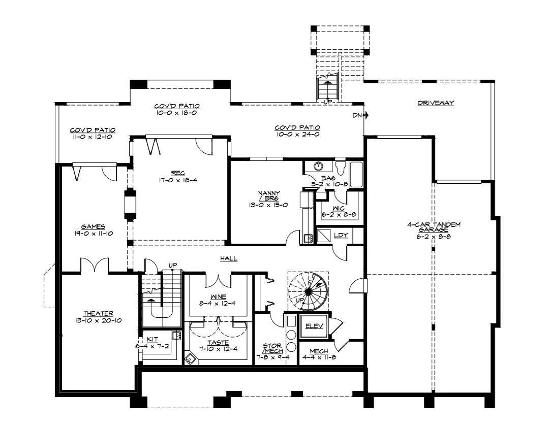 Lower Level Floor Plan image of Featured House Plan: BHG - 3342