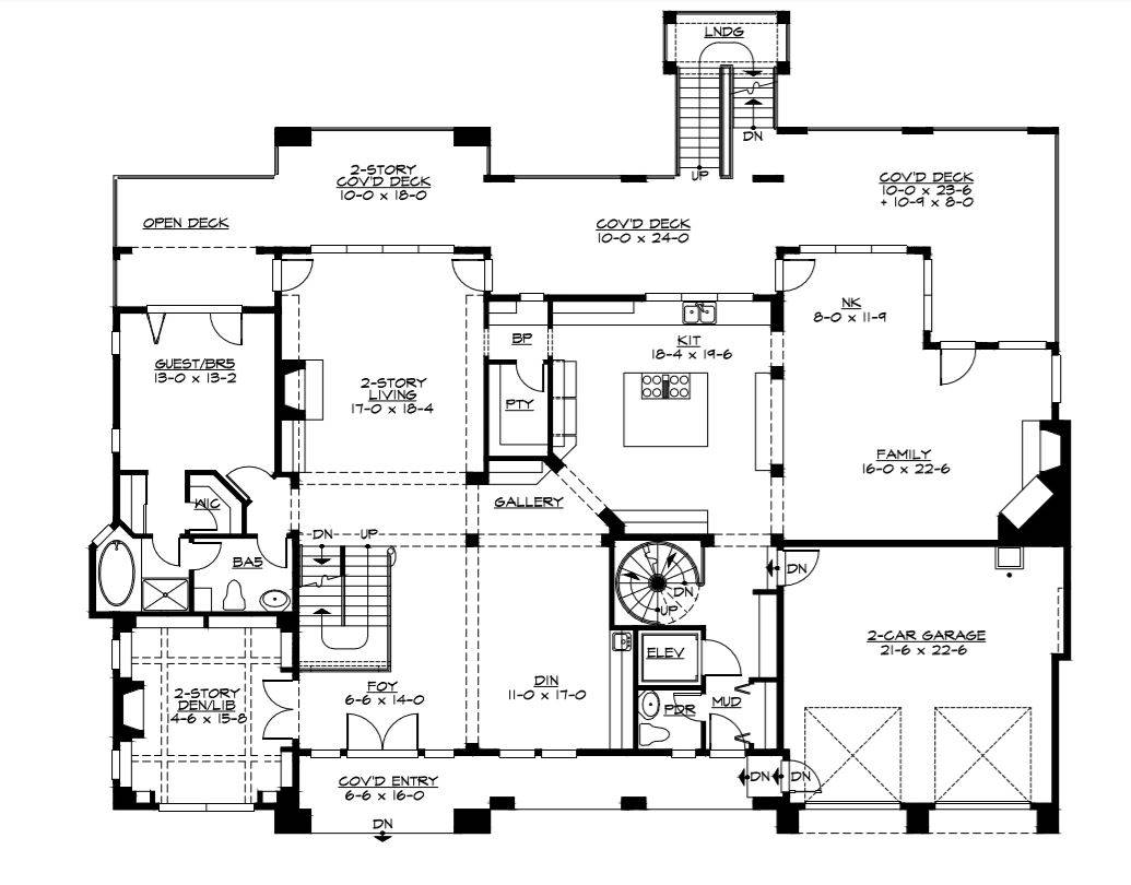 1st Floor Plan image of Featured House Plan: BHG - 3342