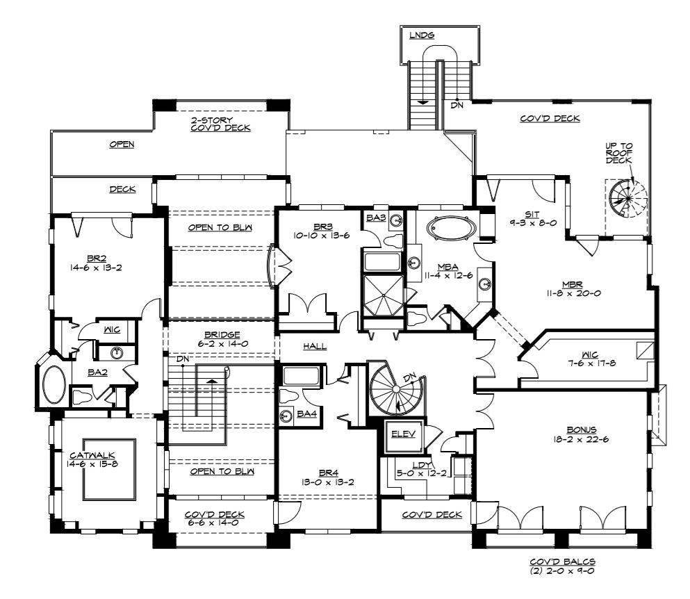 2nd Floor Plan image of Featured House Plan: BHG - 3342