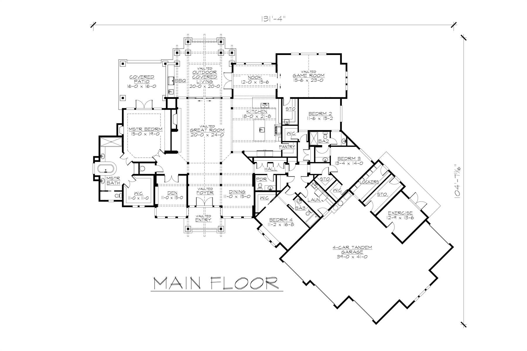 1st Floor Plan image of Featured House Plan: BHG - 4540