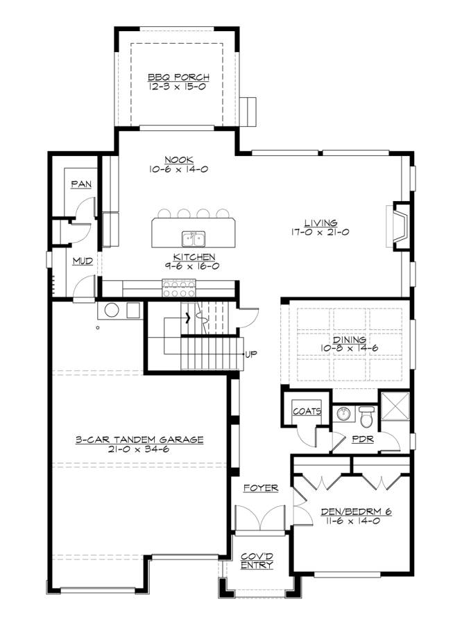 1st Floor image of Featured House Plan: BHG - 7459