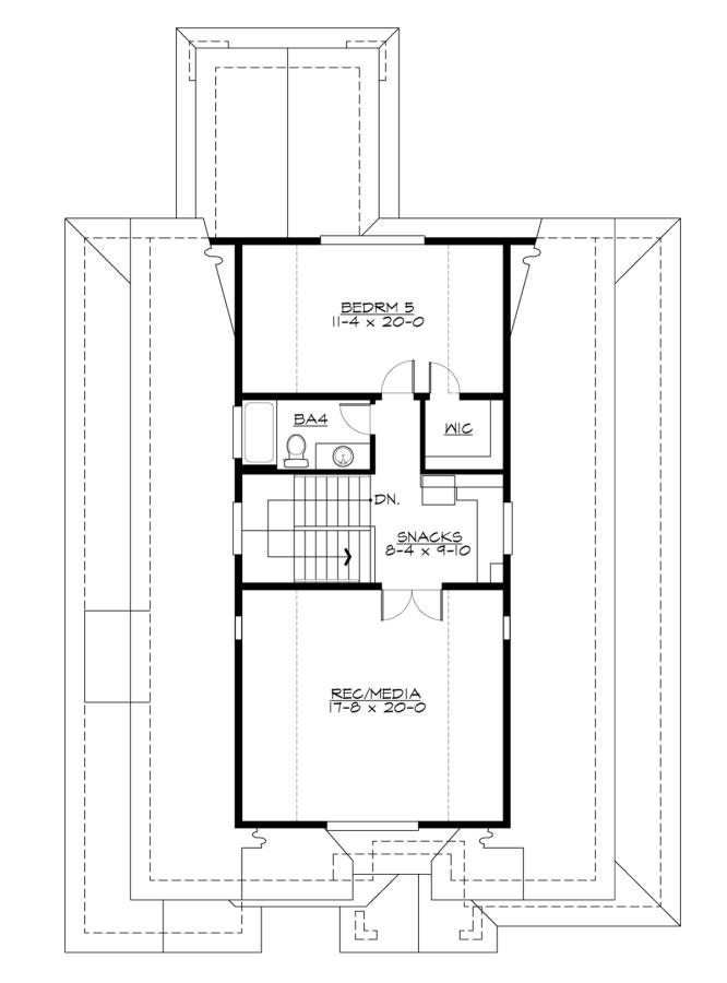 3rd Floor Plan image of Featured House Plan: BHG - 7459