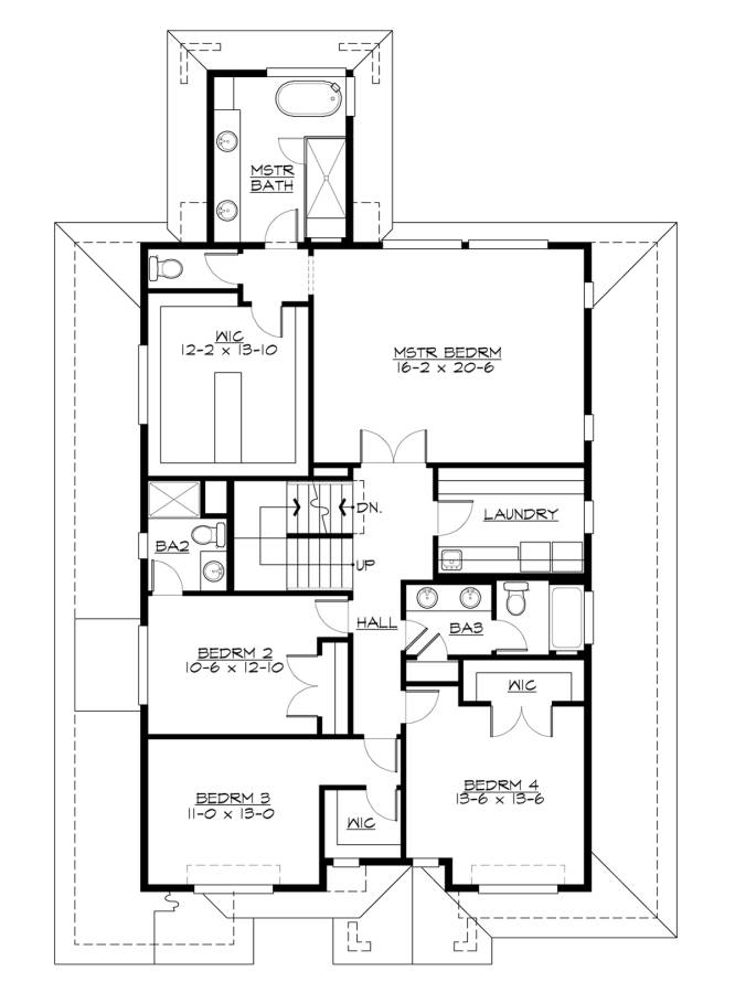2nd Floor Plan image of Featured House Plan: BHG - 7459