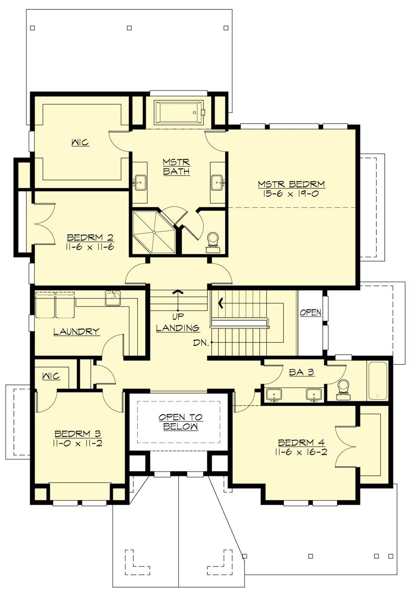 Upper Floor Plan image of Featured House Plan: BHG - 7464