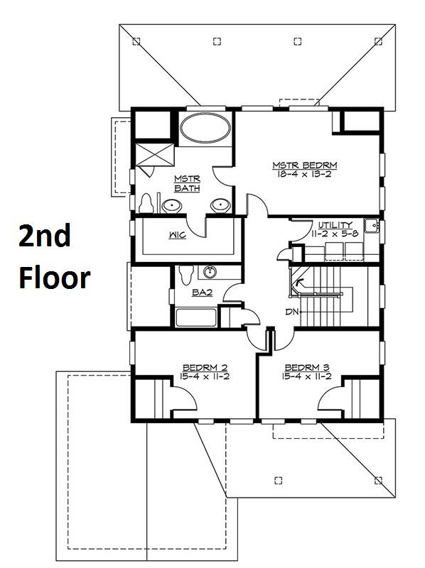 2nd Floor Plan image of Featured House Plan: BHG - 5595