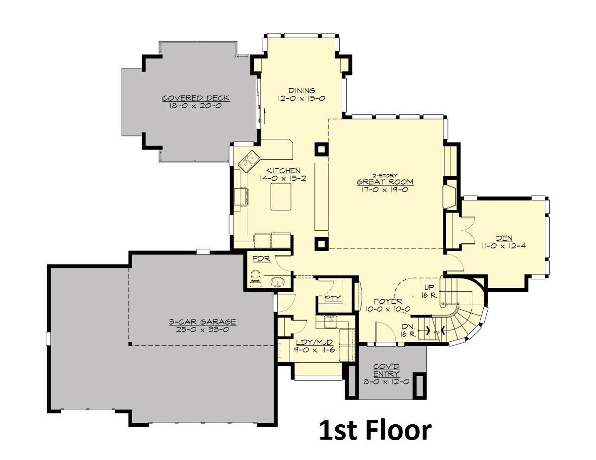 Main Floor image of Featured House Plan: BHG - 4291