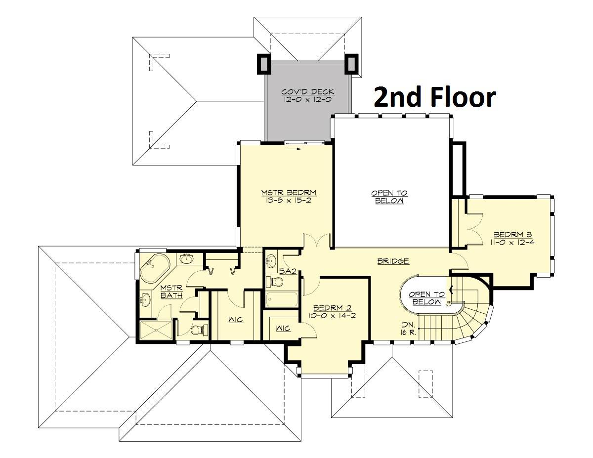 Upper Floor image of Featured House Plan: BHG - 4291