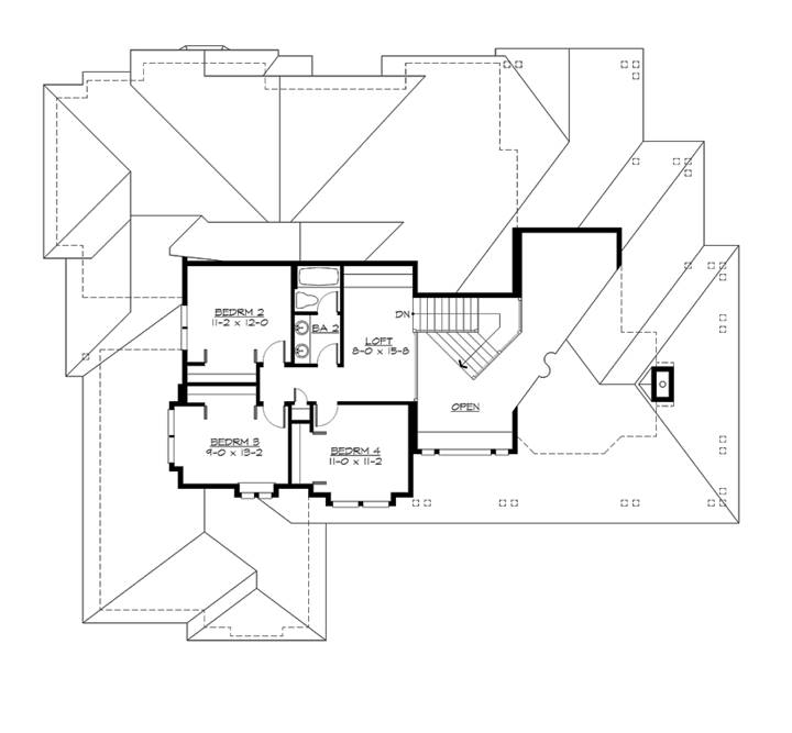 2nd Floor Plan image of Featured House Plan: BHG - 2048
