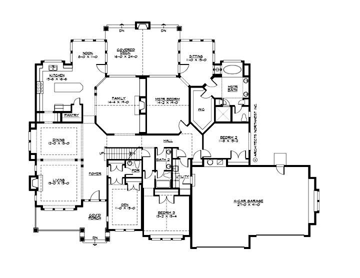 1st Floor Plan image of Featured House Plan: BHG - 1996