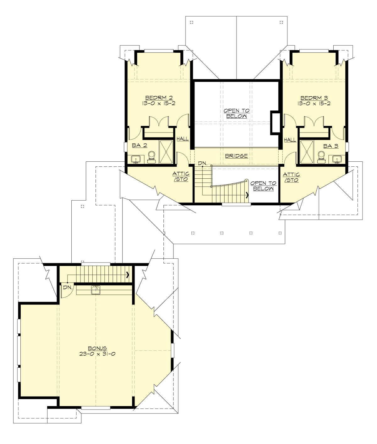 2nd Floor Plan image of Featured House Plan: BHG - 7455