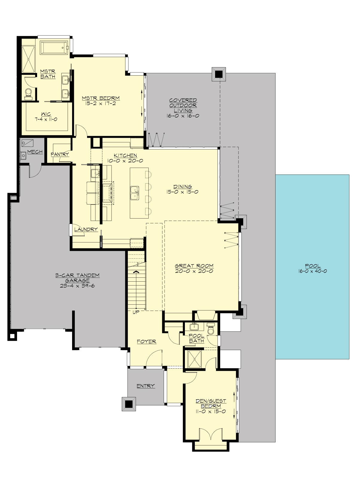 1st Floor Plan image of Featured House Plan: BHG - 7474