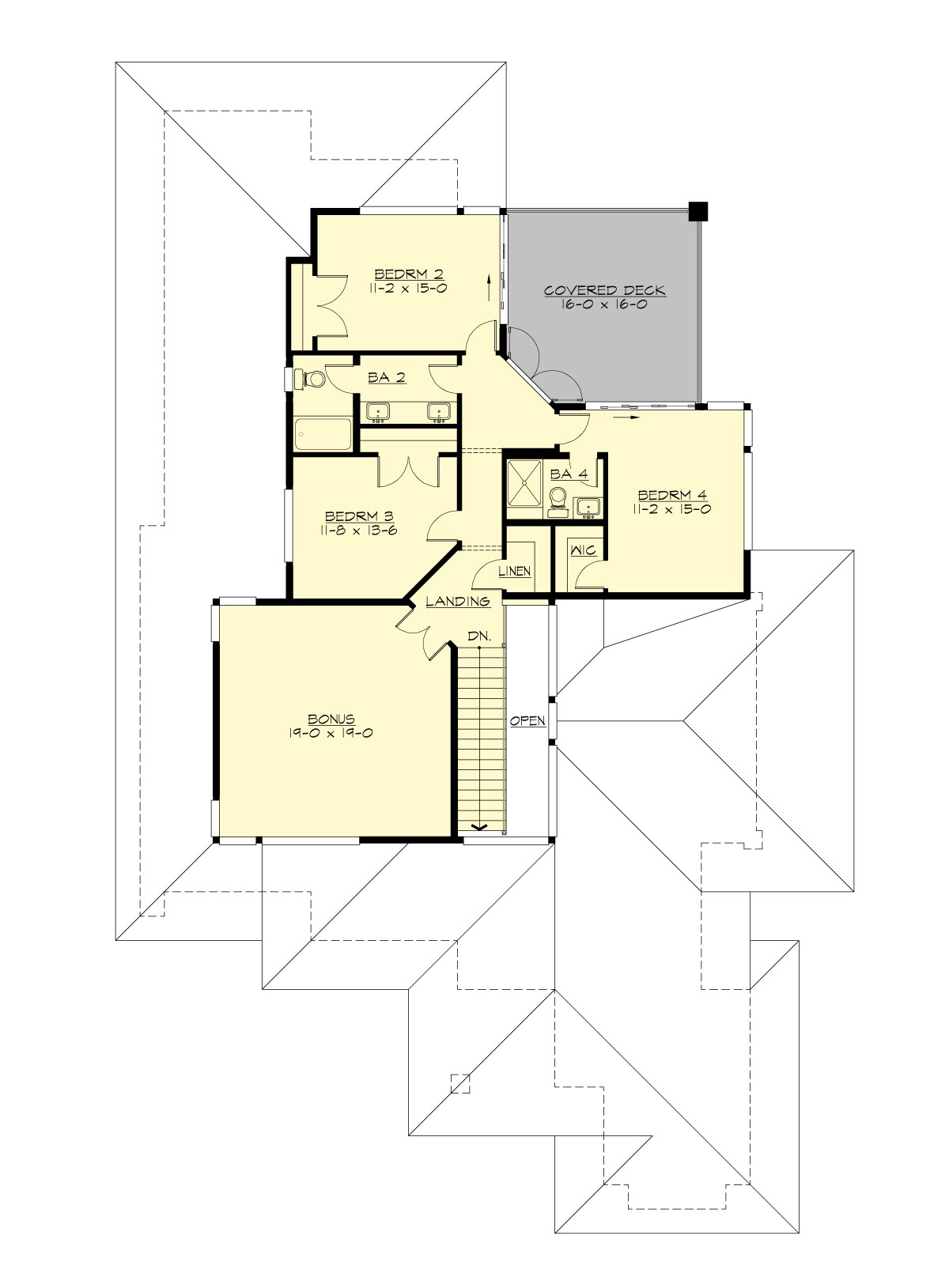 2nd Floor Plan image of Featured House Plan: BHG - 7474