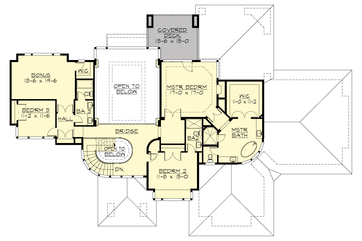2nd Floor Plan image of Featured House Plan: BHG - 9739