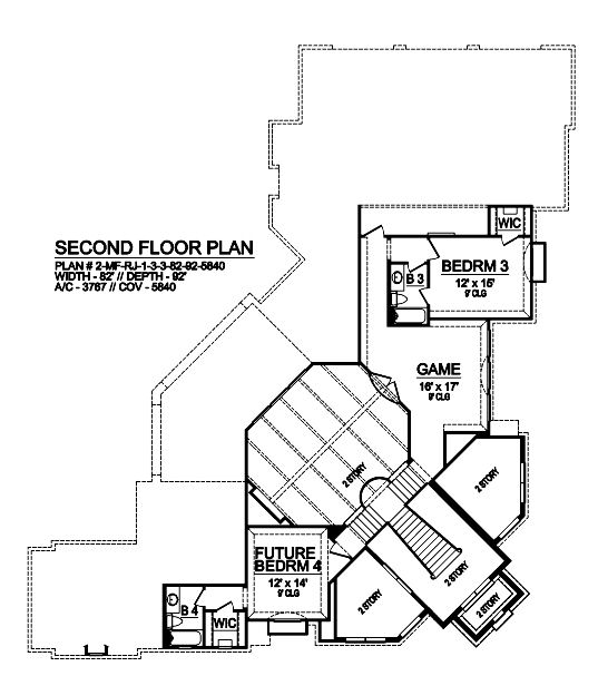 Second Floor image of Featured House Plan: BHG - 9022