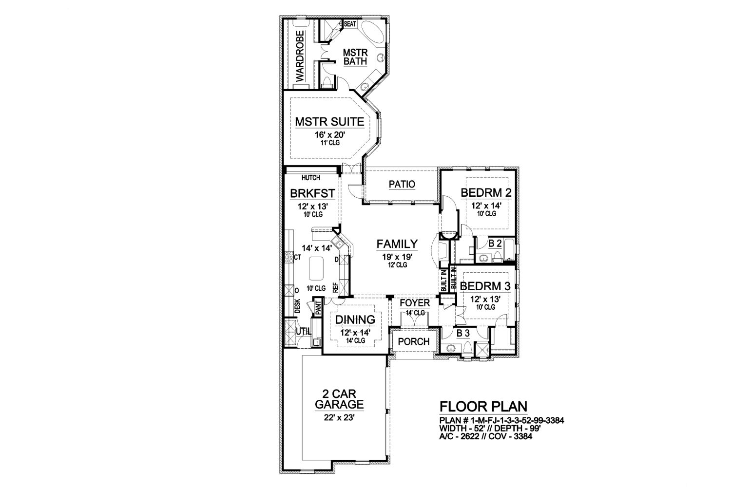 First Floor image of Featured House Plan: BHG - 9053