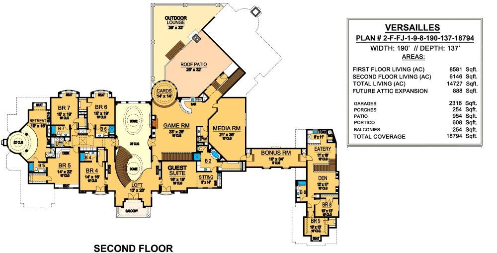 Second Floor image of Featured House Plan: BHG - 4525