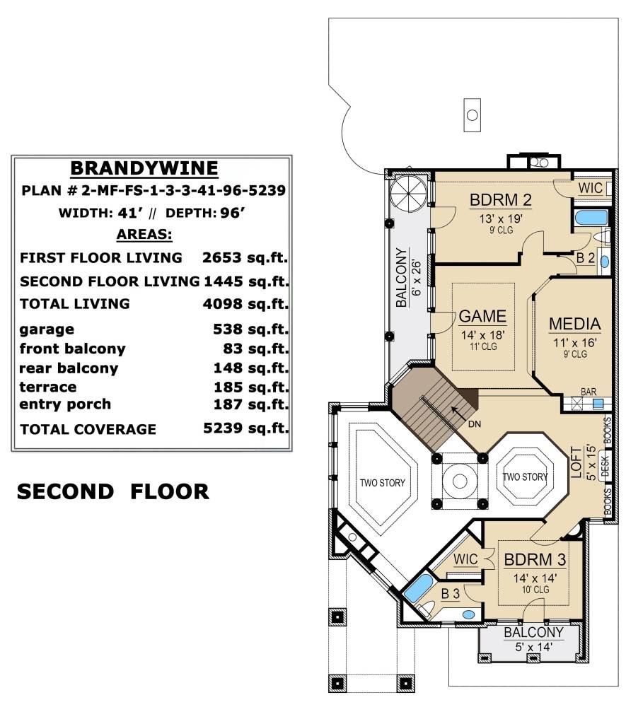 Second Floor image of Featured House Plan: BHG - 6400