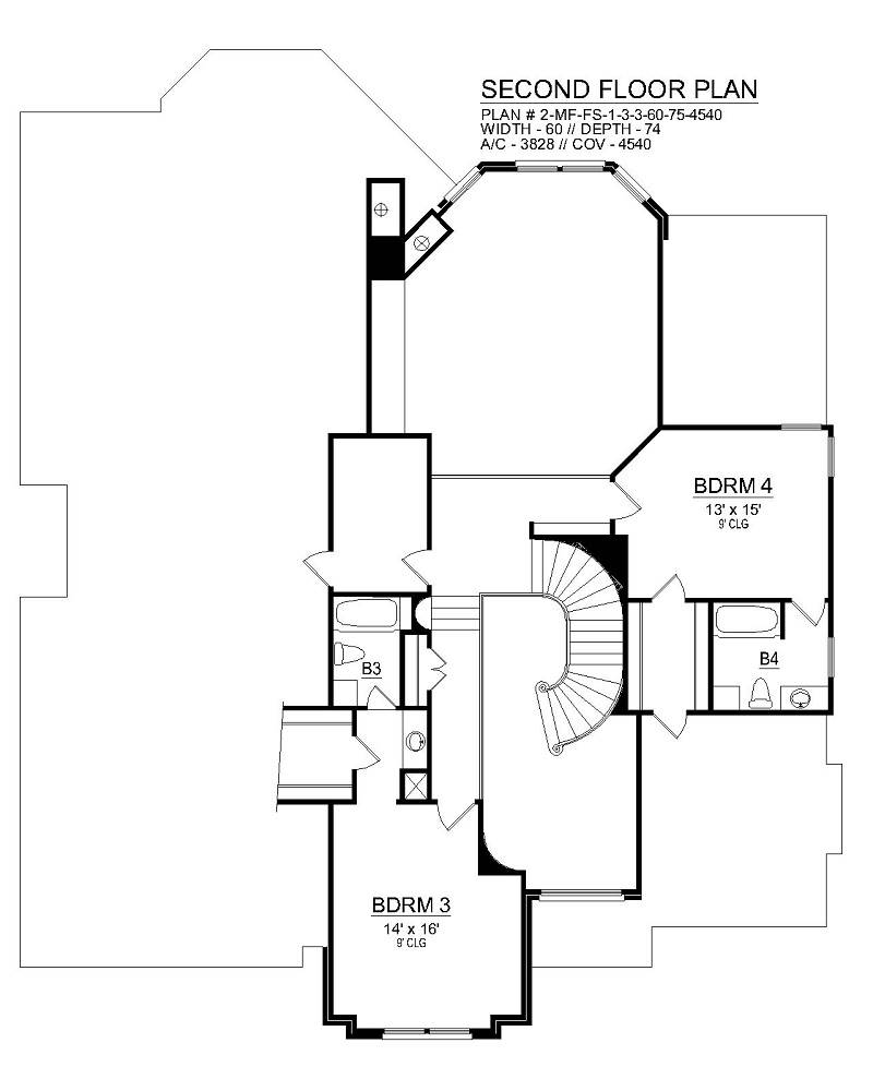 Second Floor image of Featured House Plan: BHG - 6464