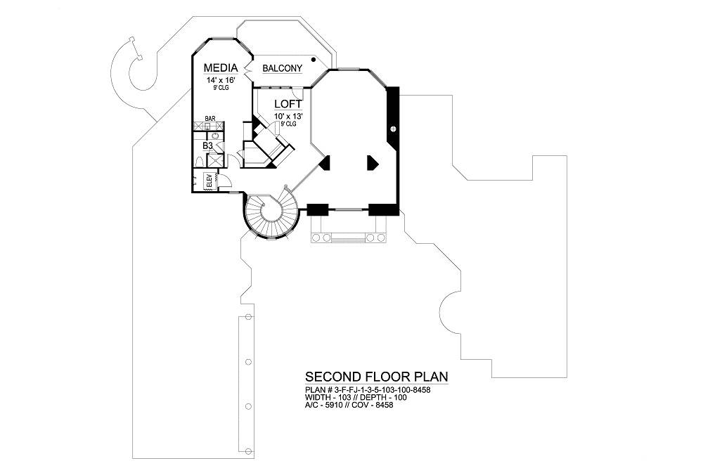 Second Floor image of Featured House Plan: BHG - 6564