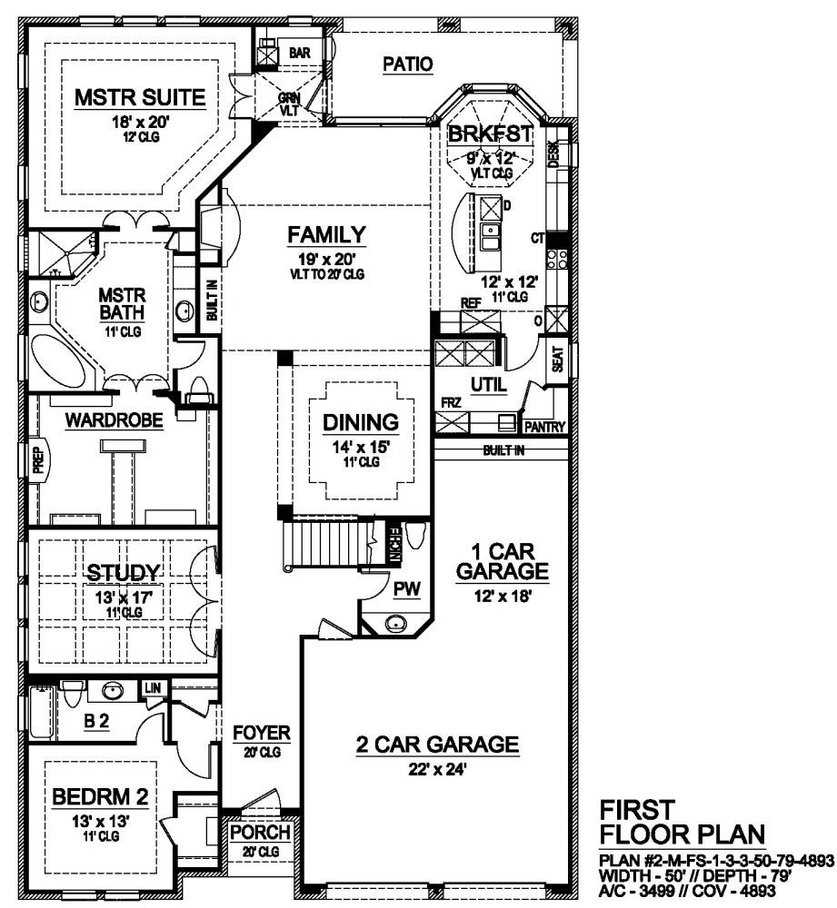 First Floor image of Featured House Plan: BHG - 7180