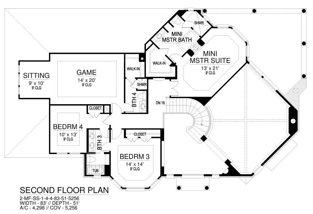 Second Floor image of Featured House Plan: BHG - 8341