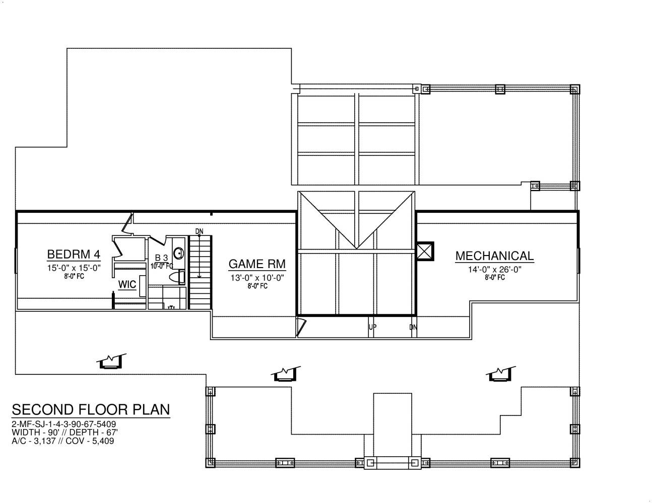 Second Floor image of Featured House Plan: BHG - 8574