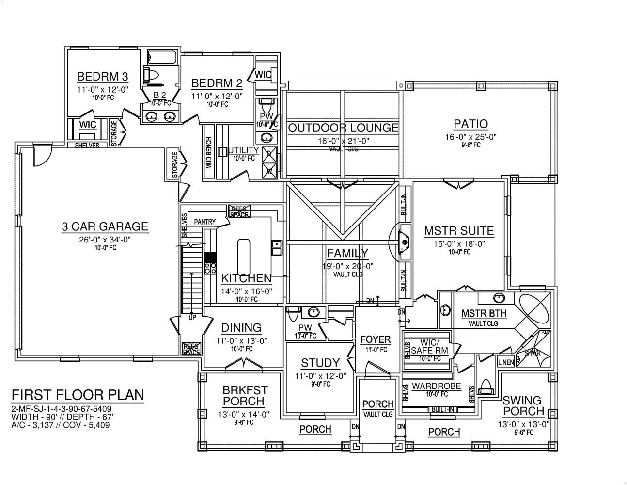 First Floor image of Featured House Plan: BHG - 8574