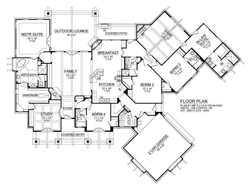 First Floor image of Featured House Plan: BHG - 2286