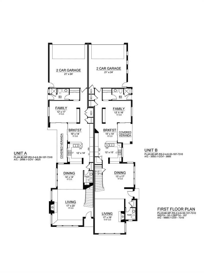 First Floor image of Featured House Plan: BHG - 2028