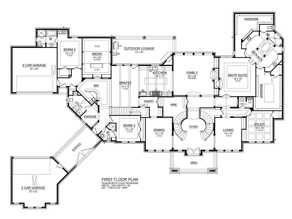 First Floor image of Featured House Plan: BHG - 4293
