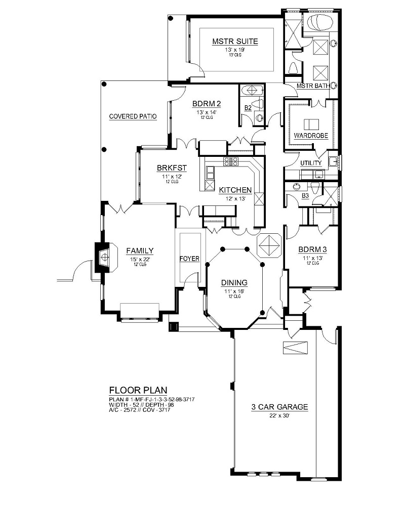First Floor image of Featured House Plan: BHG - 4438