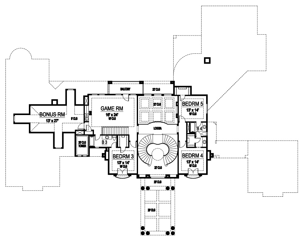 Second Floor image of Featured House Plan: BHG - 4501