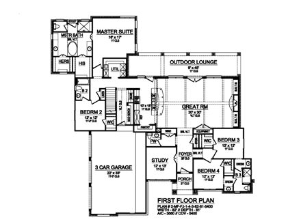 First Floor image of Featured House Plan: BHG - 5301