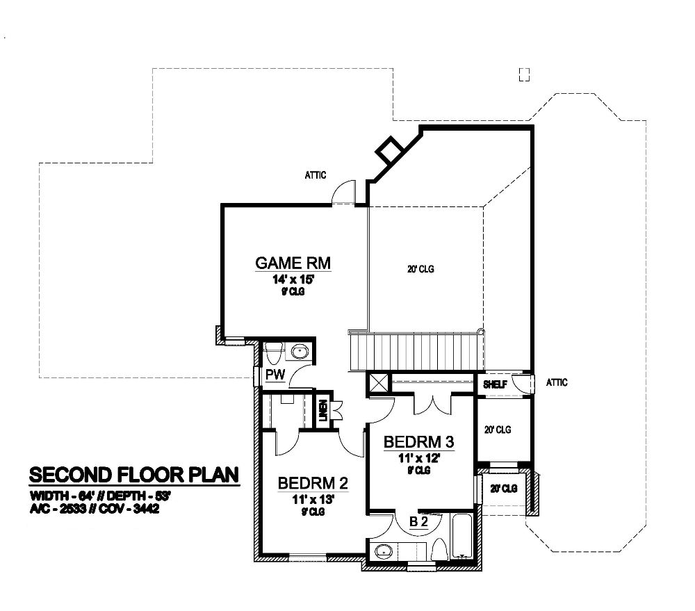 Second Floor image of Featured House Plan: BHG - 6282