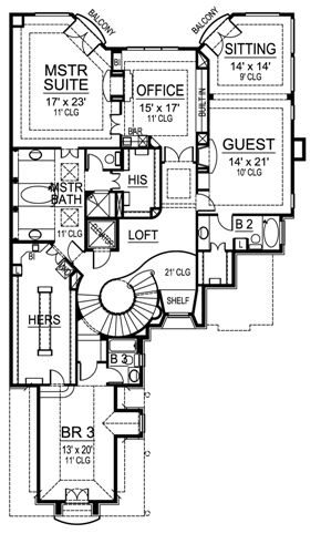 Second Floor image of Featured House Plan: BHG - 4833
