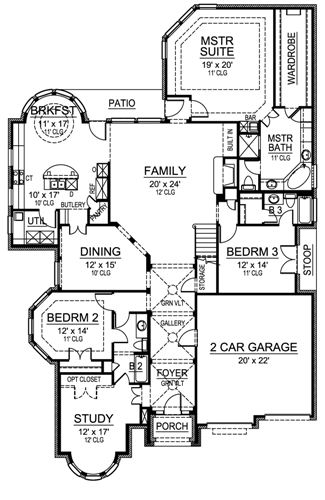 First Floor image of Featured House Plan: BHG - 4836
