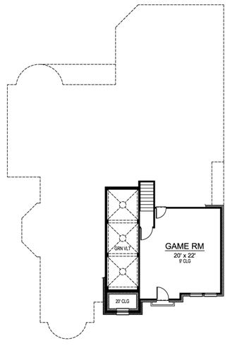 Second Floor image of Featured House Plan: BHG - 4836