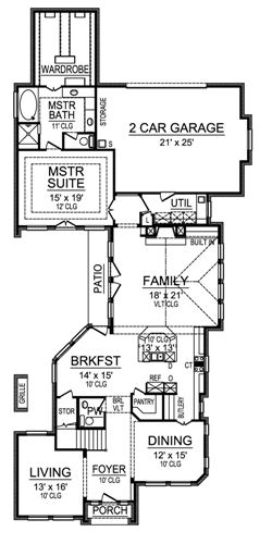 First Floor image of Featured House Plan: BHG - 4837