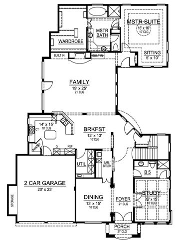 First Floor image of Featured House Plan: BHG - 4839