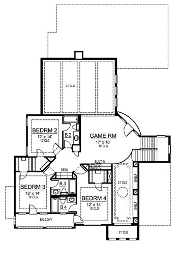 Second Floor image of Featured House Plan: BHG - 4839