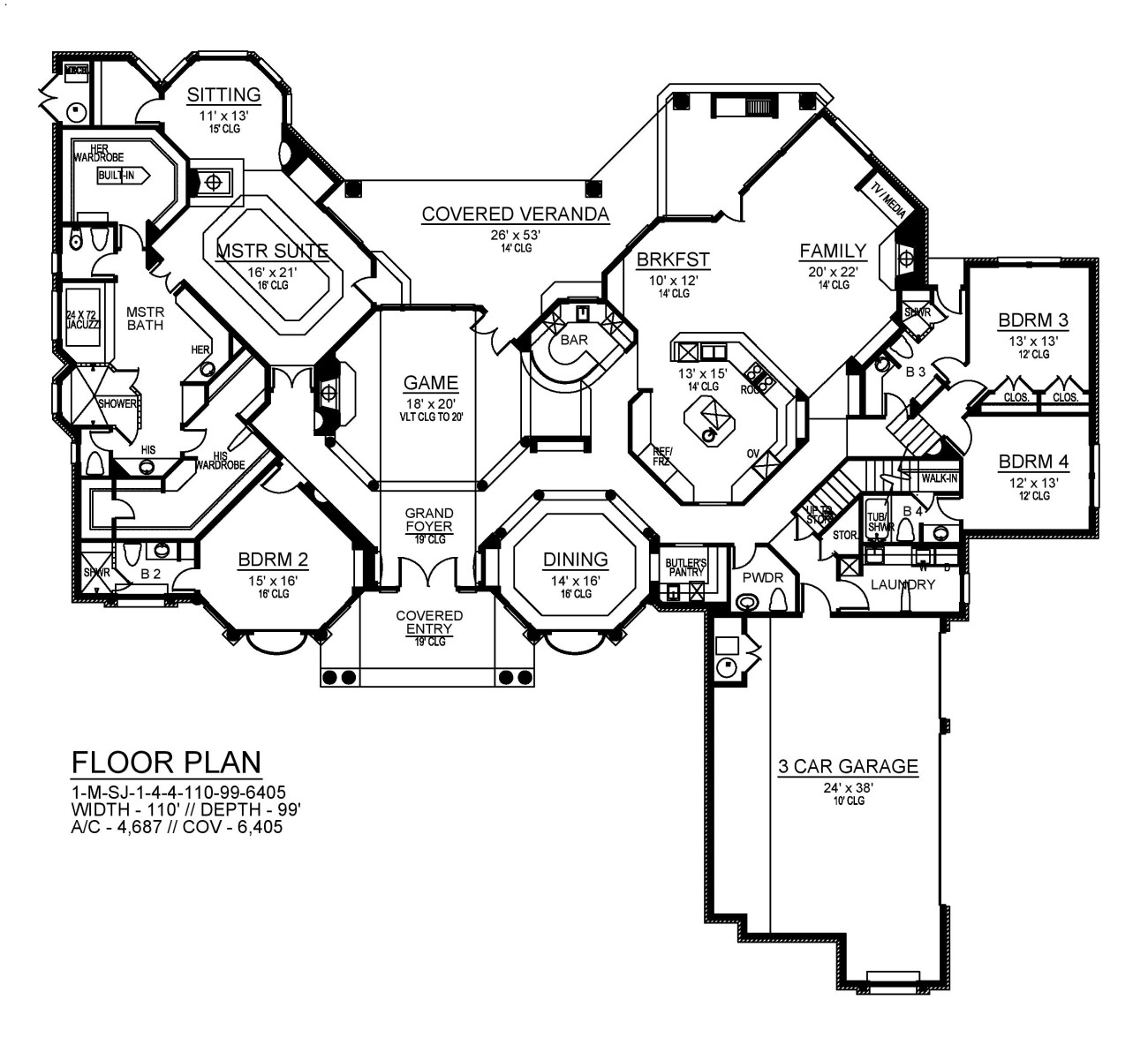 1st Floor image of Featured House Plan: BHG - 9090