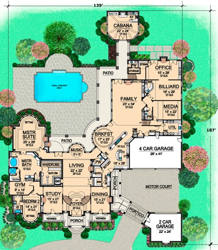 First Floor 2 image of Featured House Plan: BHG - 4840