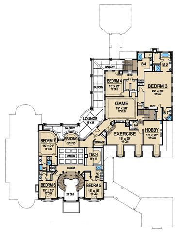 Second Floor 2 image of Featured House Plan: BHG - 4840