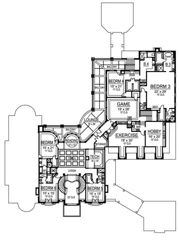 Second Floor image of Featured House Plan: BHG - 4840