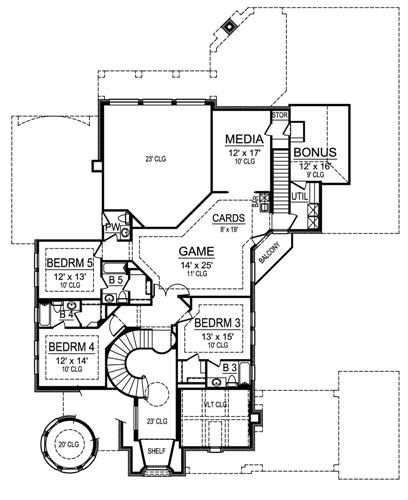 Second Floor image of Featured House Plan: BHG - 4534