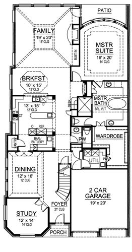 First Floor image of Featured House Plan: BHG - 4910