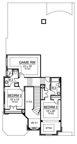 Second Floor image of Featured House Plan: BHG - 4910
