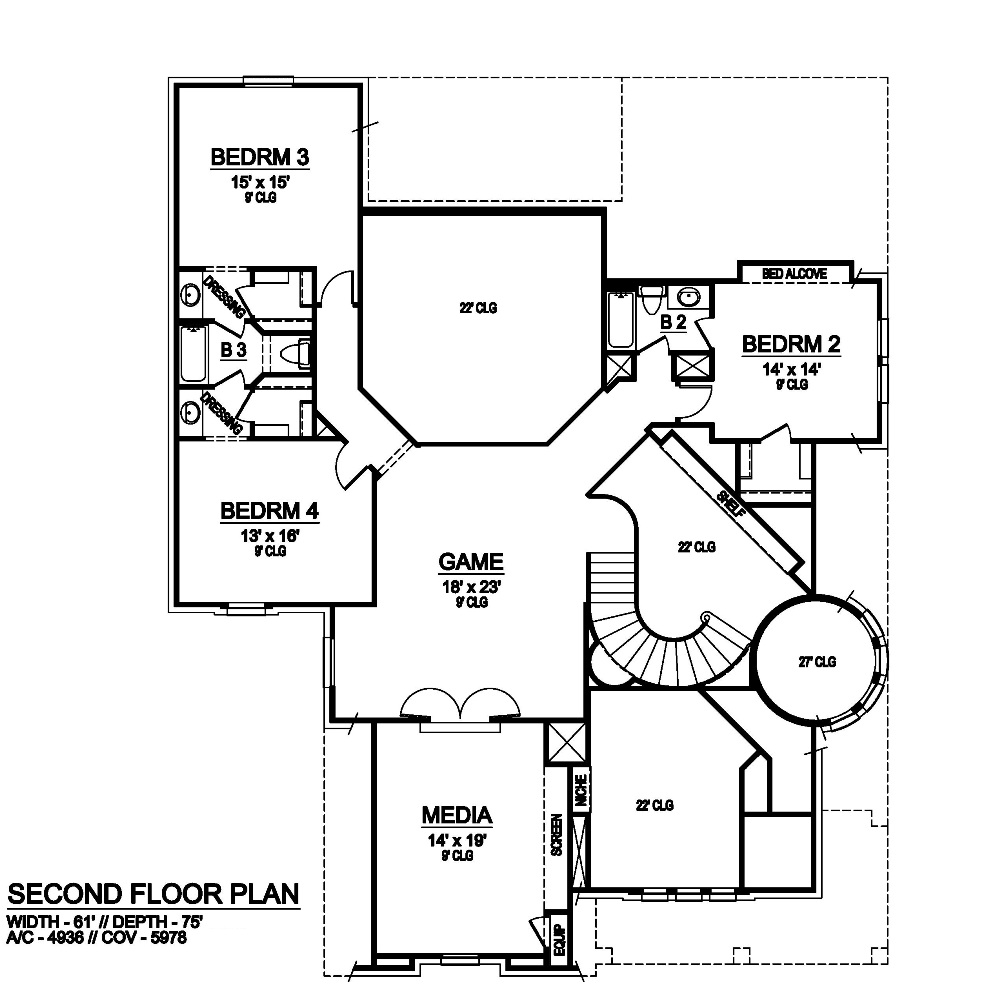 Second Floor image of Featured House Plan: BHG - 6791