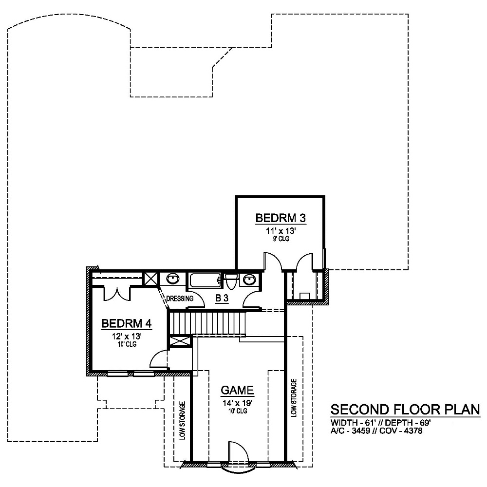Second Floor image of Featured House Plan: BHG - 6820