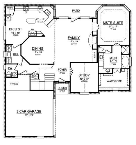 First Floor image of Featured House Plan: BHG - 4538